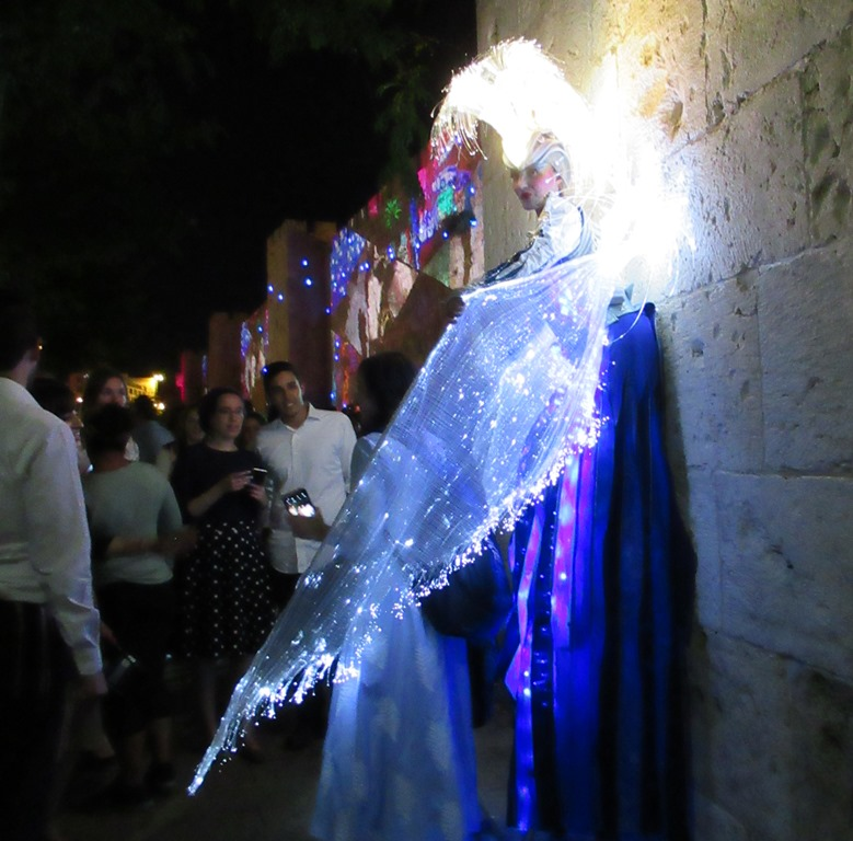 Person in costume for Jerusalem Light Festival