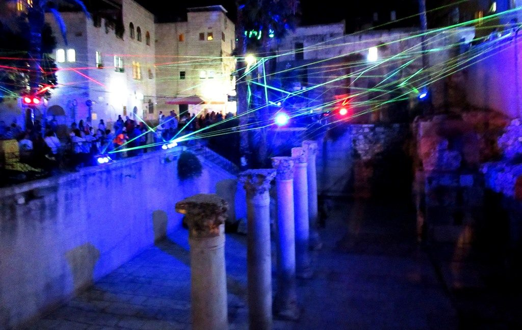Light Festival in Cardo Old City Jerusalem Israel