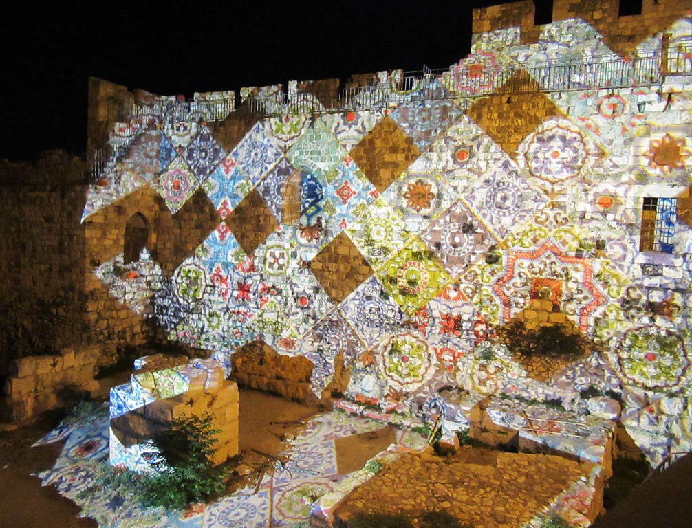 Jerusalem Light Festival in Old City