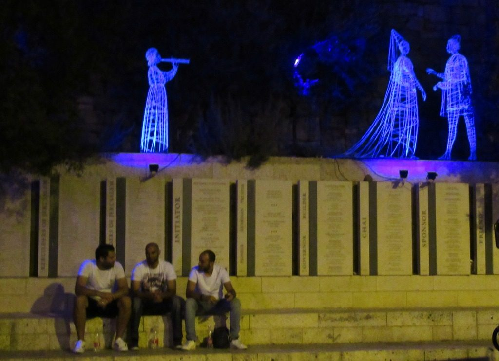 Statutes of light for Jerusalem Light Festival