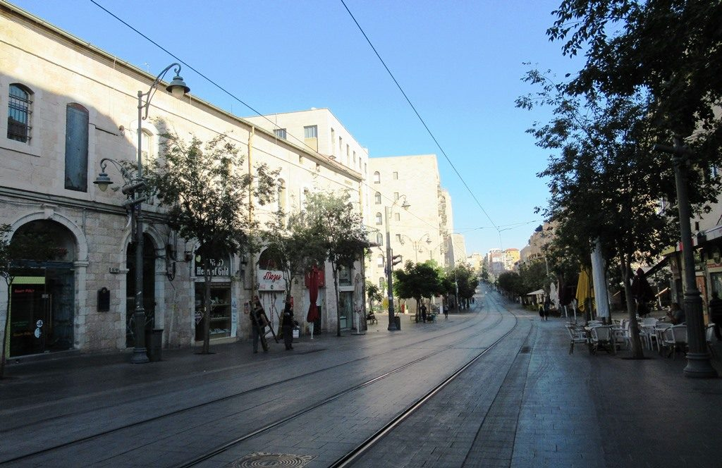 Jerusalem, Israel, Jaffa Street in morning