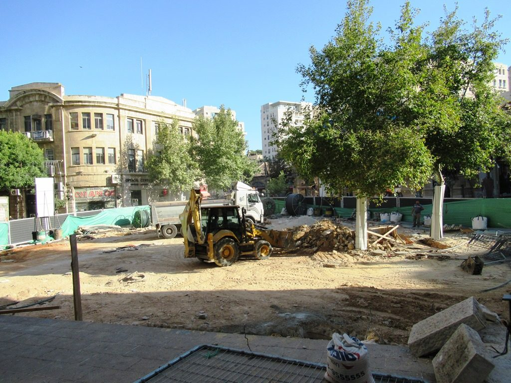 Jerusalem, Israel Zion Square being renovated