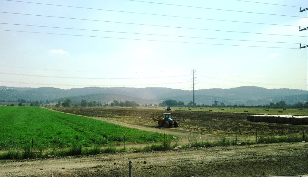 Farm land in Galil on way to Golan Israel