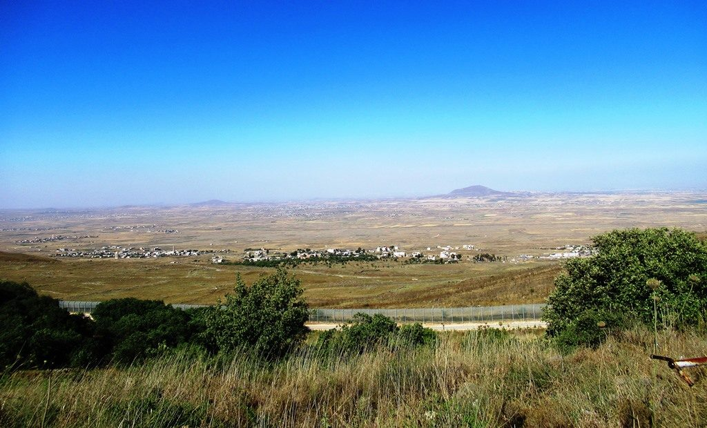Syrian border from Israeli Golan Heights