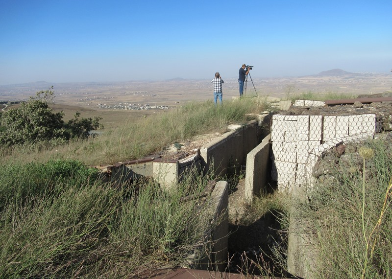Abandoned Syrian bunkers on top of Golan Heights