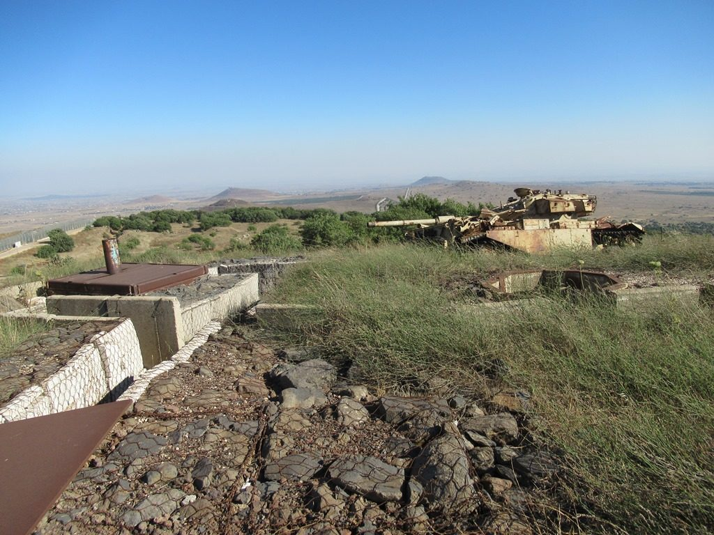 Abandoned Syrian bunkers on Golan Heights