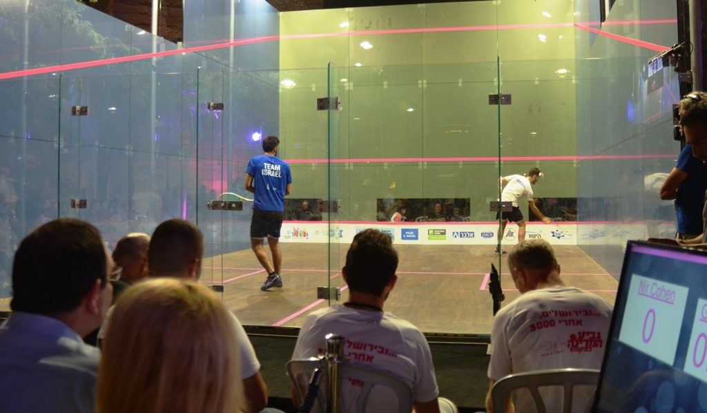 Israel Squash Tournament in Jerusalem near Jaffa Gate