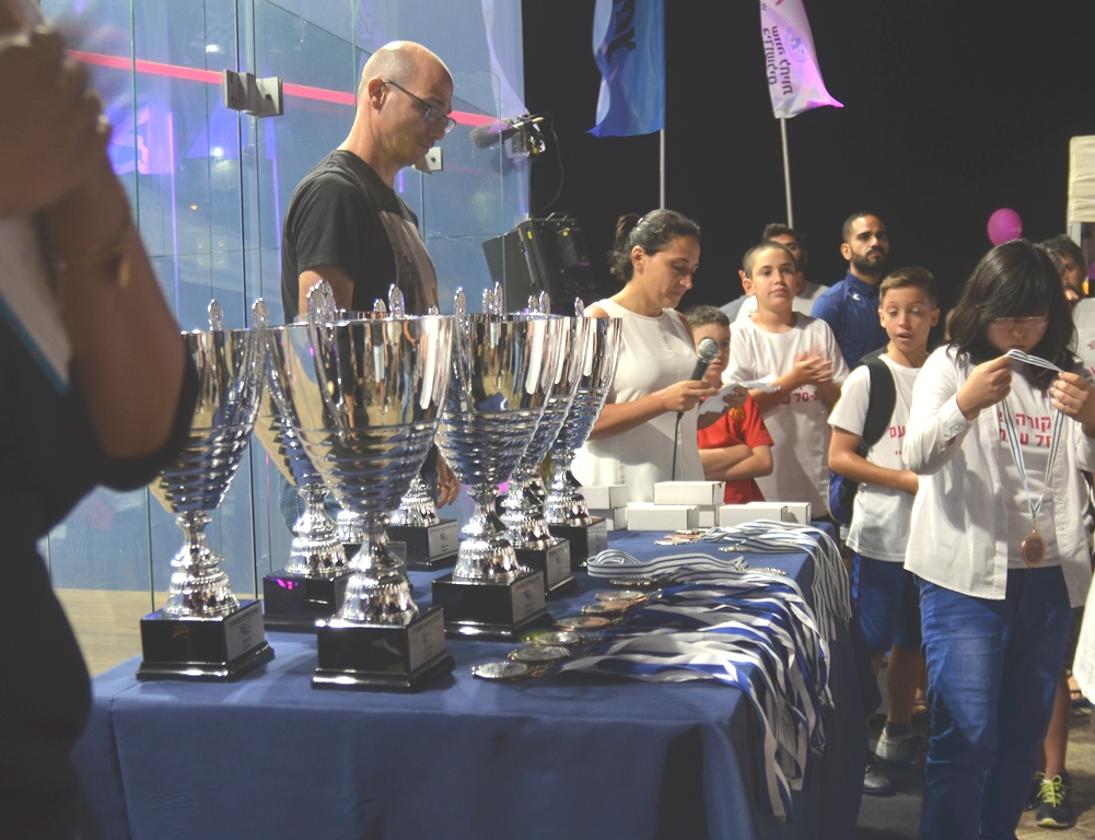 Israel Squash Tournament trophies