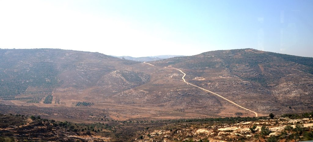 View of Shomron from bus