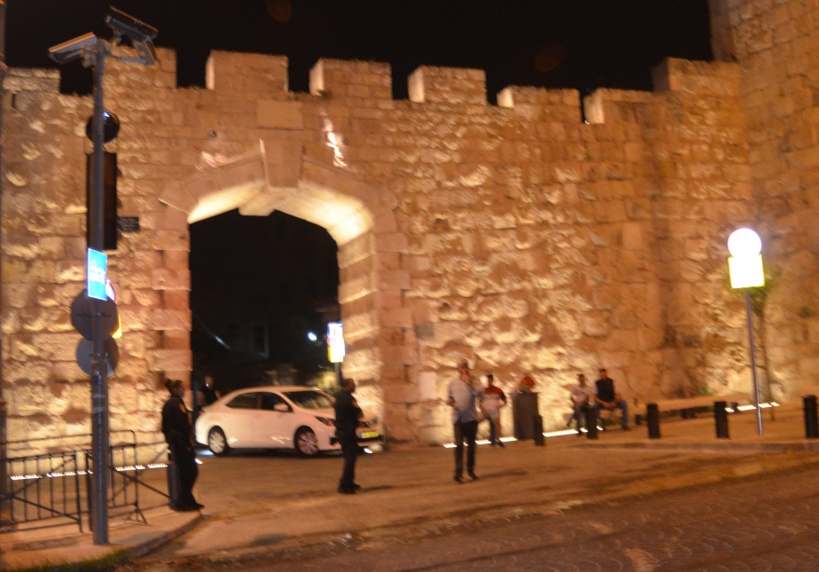 New Gate, Jerusalem, Israel at night