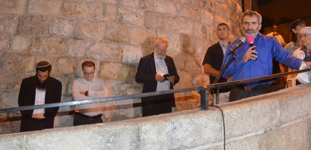 Deputy Mayor Dov Kalmanovich, MK Zeev Elkin, Marc Zell, Yehudit Katsover, Nadia Matar at Lion's Gate Old City Jerusalem Israel