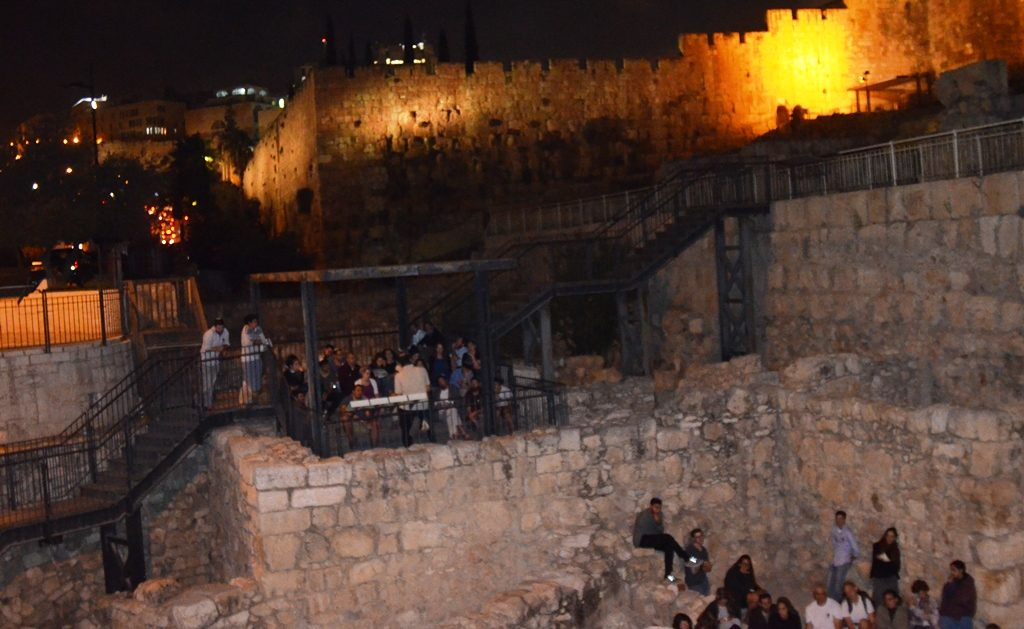 Night time Old City Tisha B'Av Jerusalem Israel