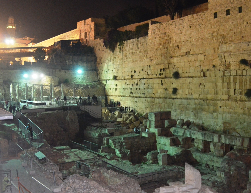 Jerusalem, Old City section with stones from second temple time and new platform