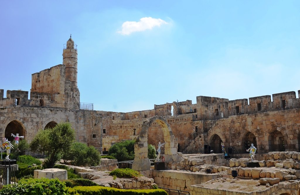 View of Tower of David citadel and court yard for Rock Paper Scissors by Karen Sargsyan