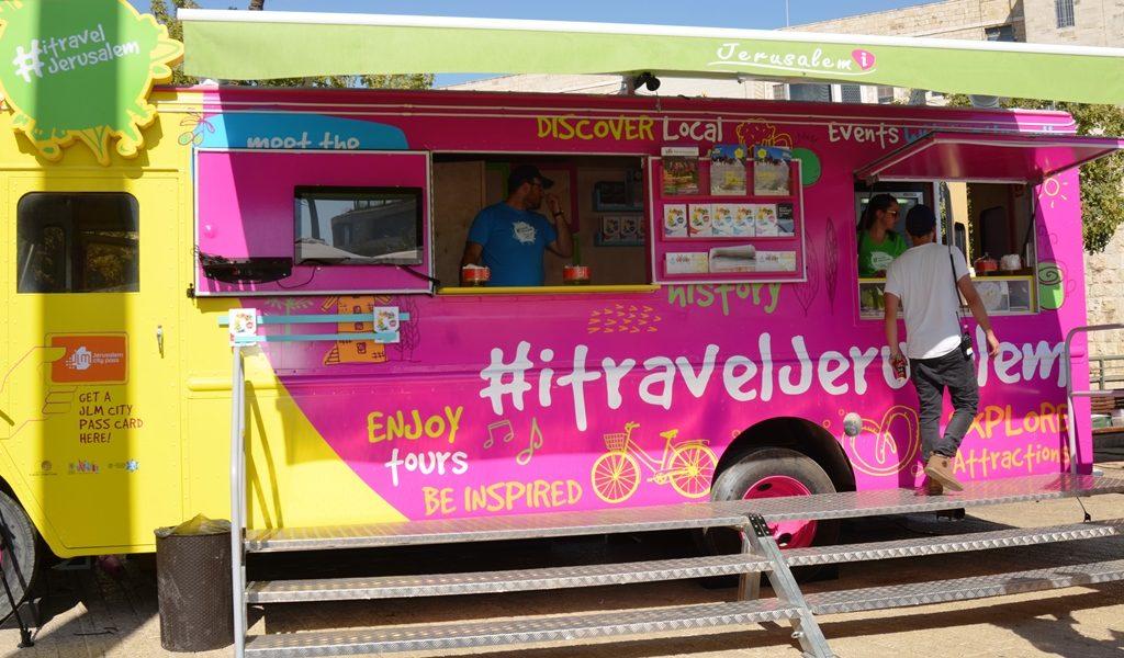 Tourist information trucks #itraveljerusalem