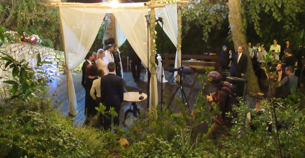 Jewish wedding in Ein Hemed Jerusalem Israel Judean Hills