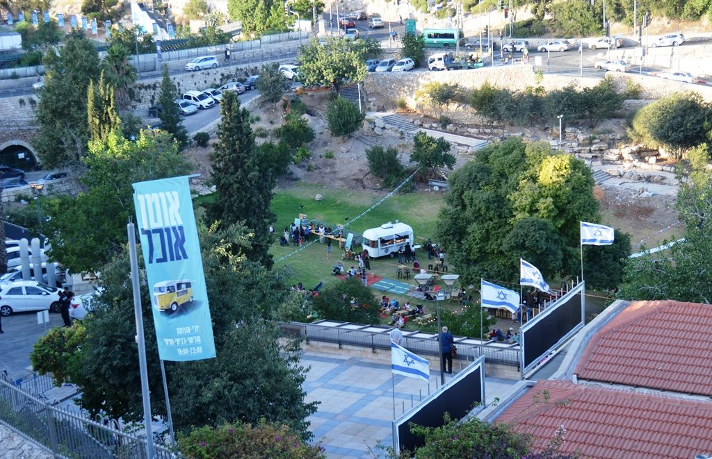 Hinnom Valley Food Truck Festival in Jerusalem , Israel