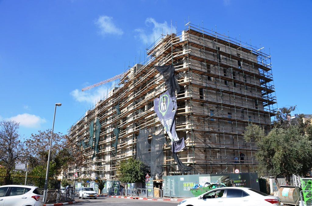 Talpiot building being renovated Jerusalem construction