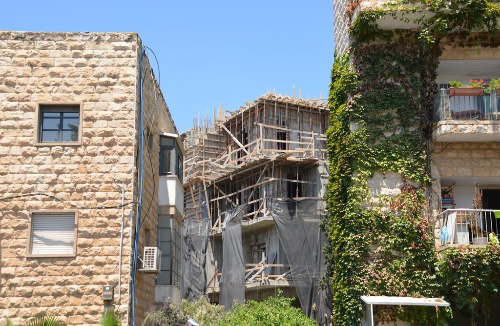 Building under construction near Israeli President House