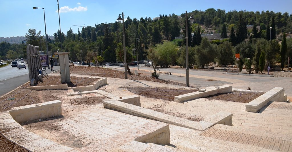 Jerusalem Israel bike path construction
