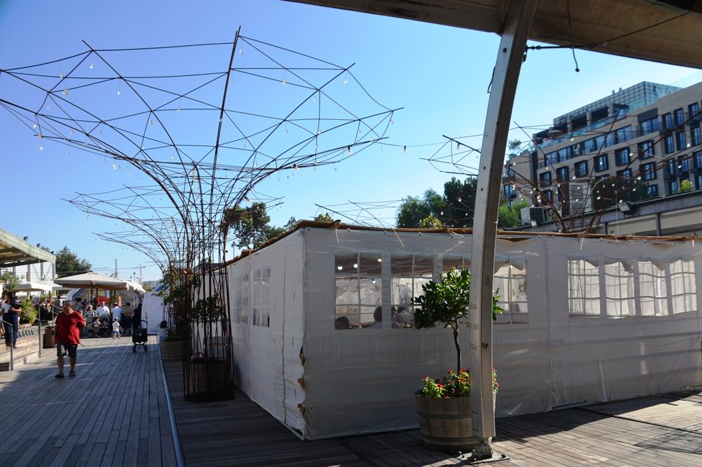 Jerusalem Israel sukkah built at First Station