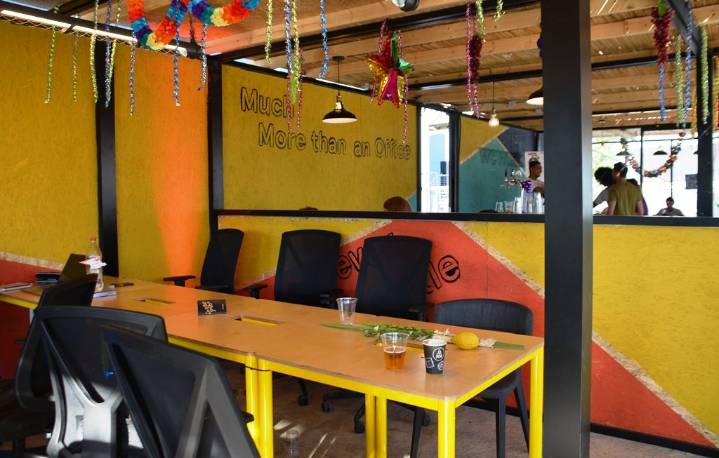 Jerusalem Israel sukkah in First Station by WeWork