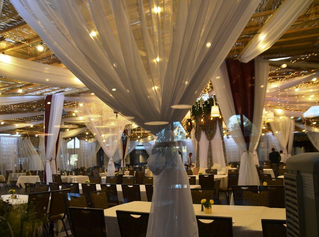 Sukkah in Inbal Hotel atrium Jerusalem Israel