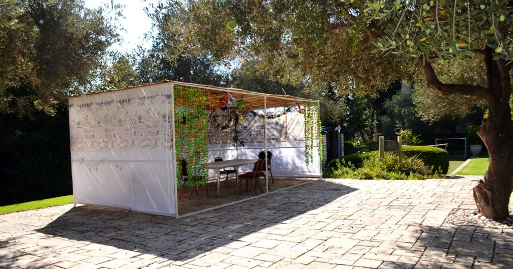 Sukkah at Israeli President House for private use