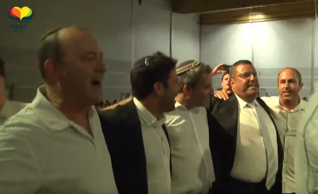 Jerusalem Mayoral candidates dancing at Selihot
