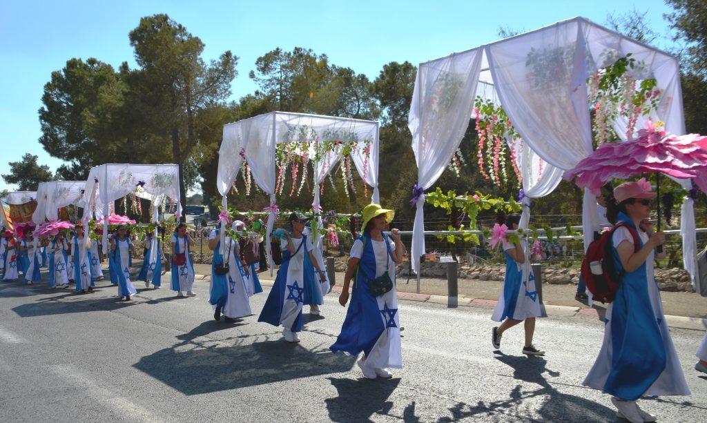 Jerusalem Parade Sukkot tabernacles
