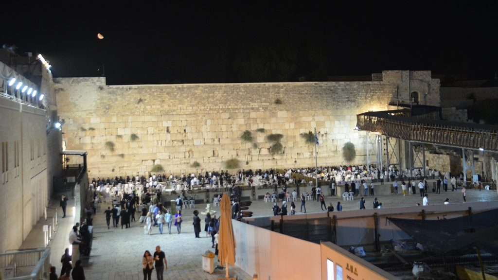 Night at Kotel, before Rosh Hashana night of selihos