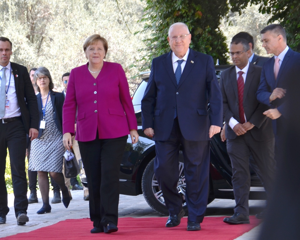 German Chancellor and Israeli President in Jerusalem Israel