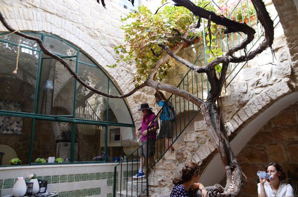 Jerusalem Israel Villa Mamilla tree in courtyard