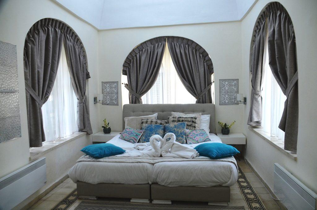Jerusalem Israel villa Mamilla bedroom