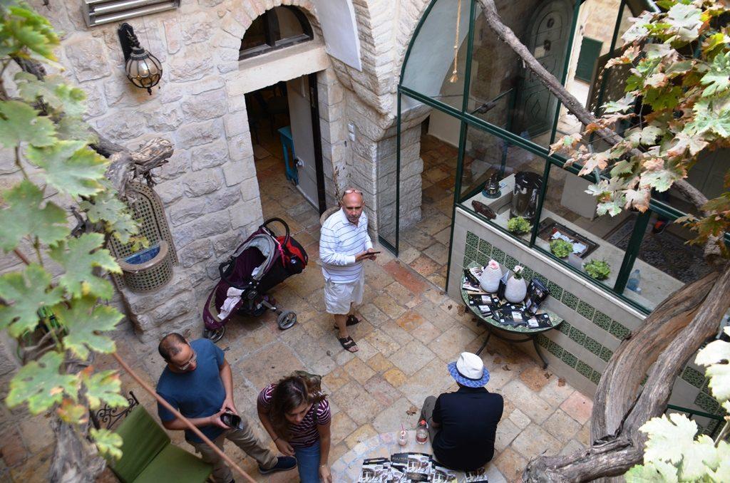 Jerusalem Israel courtyard in house