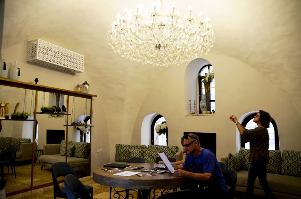 Lounge room of Villa Mamilla open for HouseWithin Jerusalem Israel annual festival