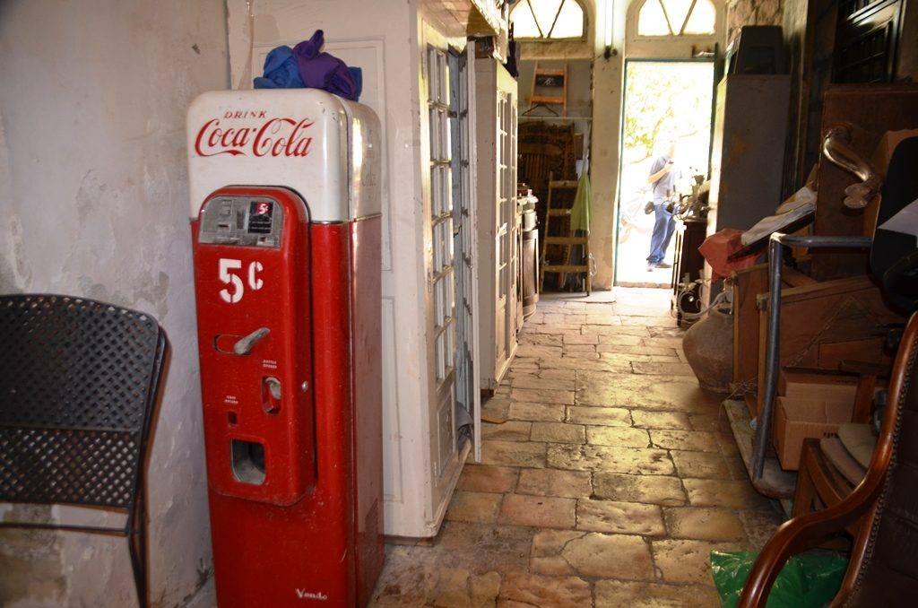 Jerusalem Israel old house has 5 cent Coke Cola vending machine