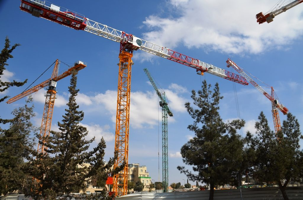 Jerusalem Israel building cranes