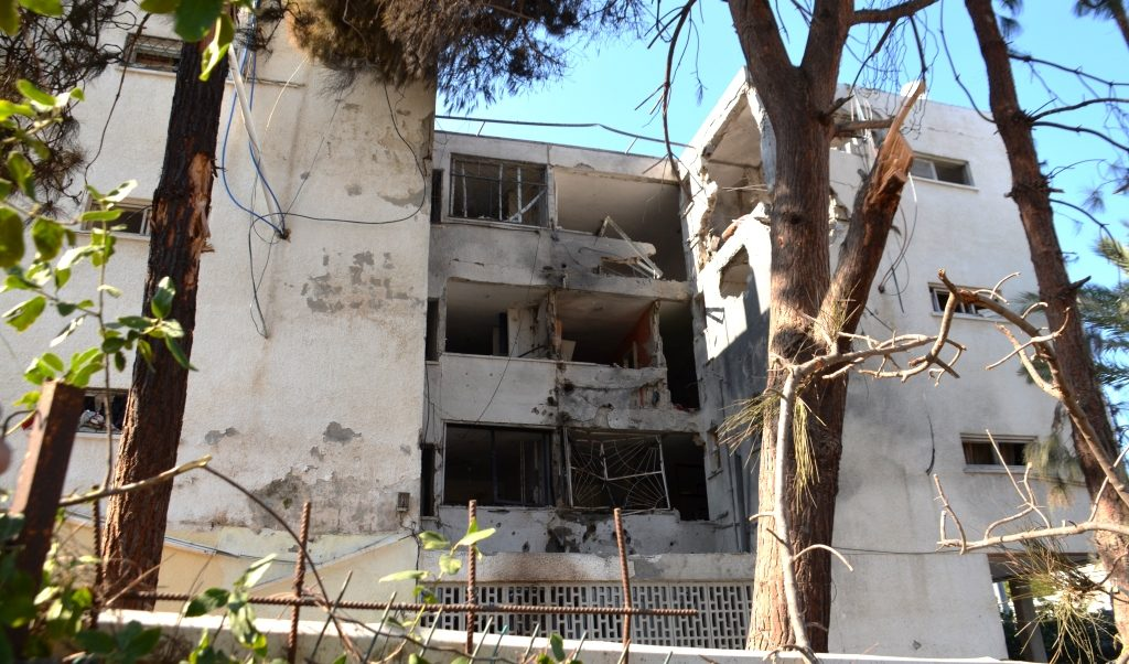 Ashkelon building hit by rocket where man was killed
