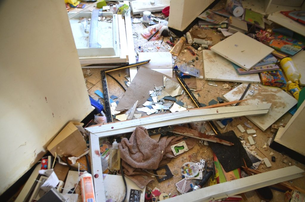 Room of Apartment in building damaged by rocket in Ashkelon