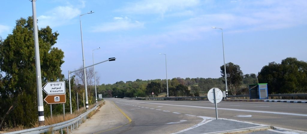Kissufim road empty during crisis in southern Israel 500 missiles in one day