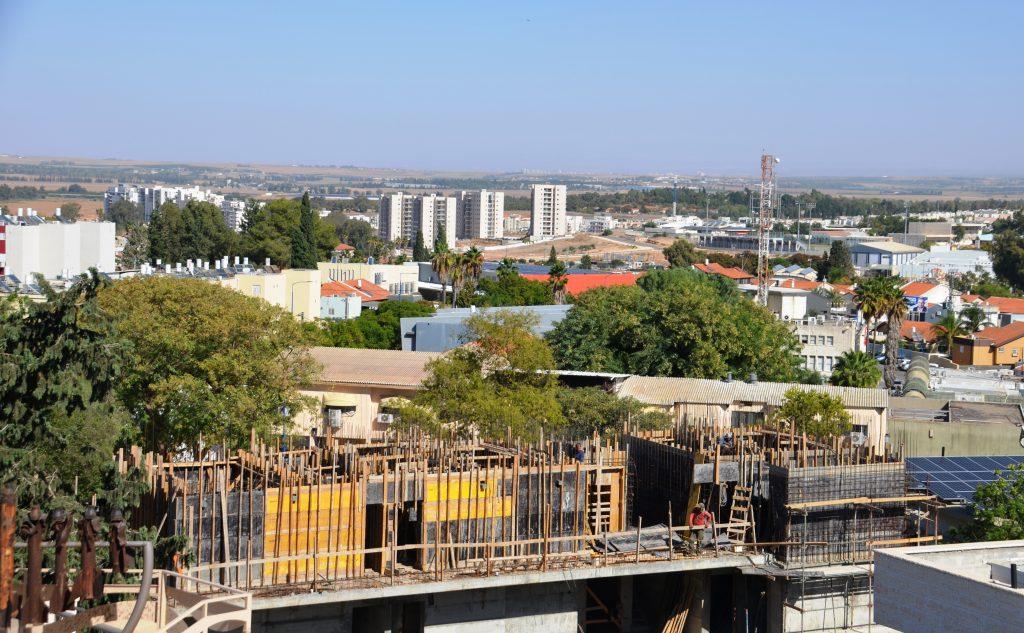 Sderot view from top of yeshiva