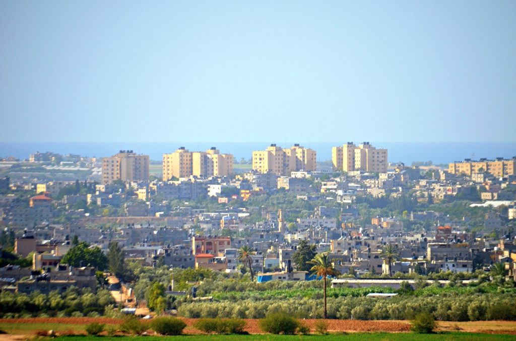 View of northern Gaza from Israel border