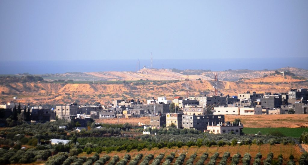 Gaza as seen from Israel border