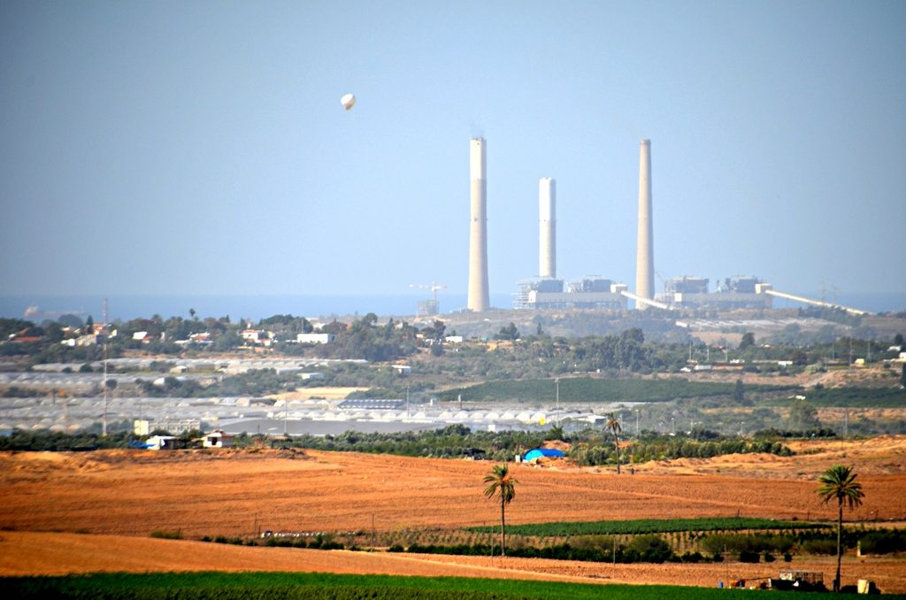 Ashelon power plant which supplies electricity to Gaza