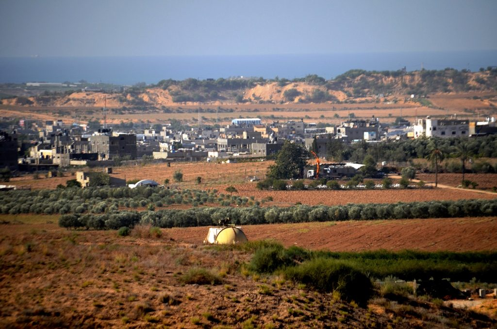 Northern Gaza view from Israel border