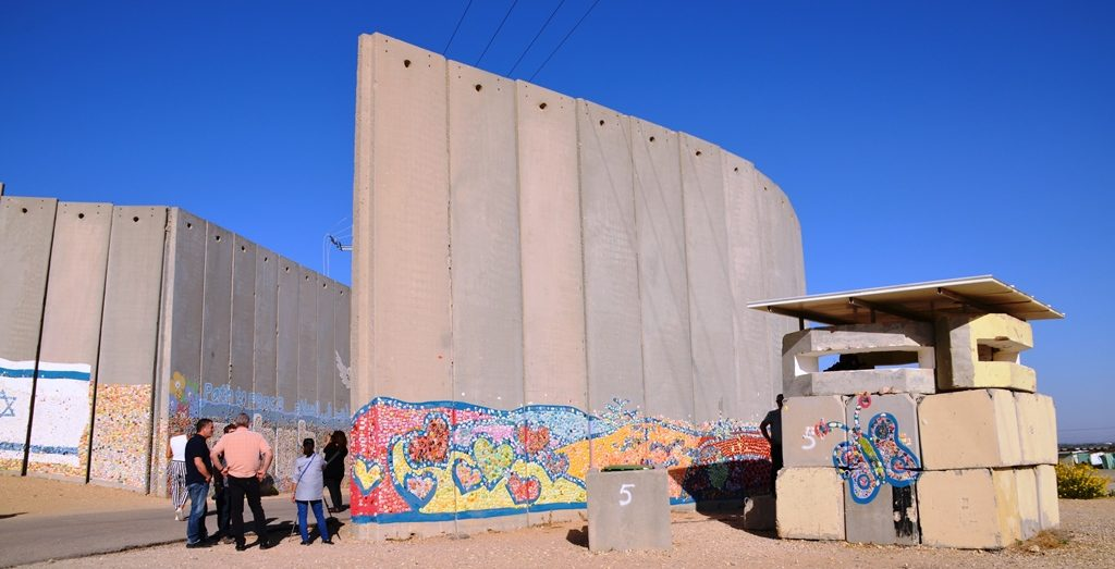 Security wall in southern Israel