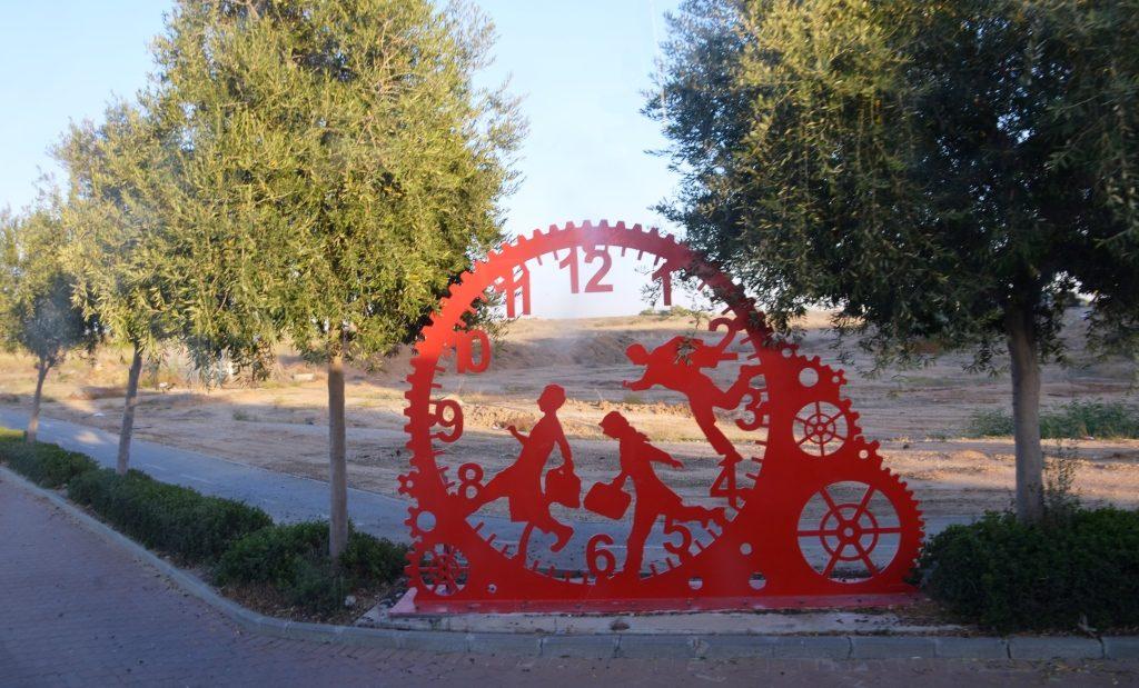 Israel near Gaza border art piece decoration
