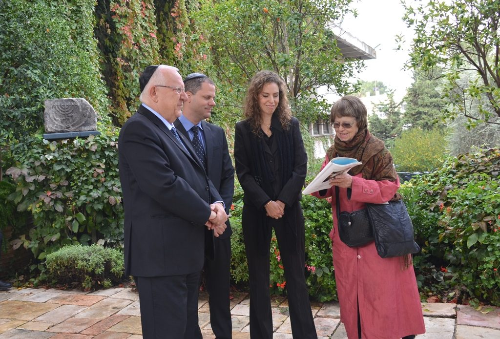 President Reuven Rivlin and Navon children day of funeral at Beit Hanasi