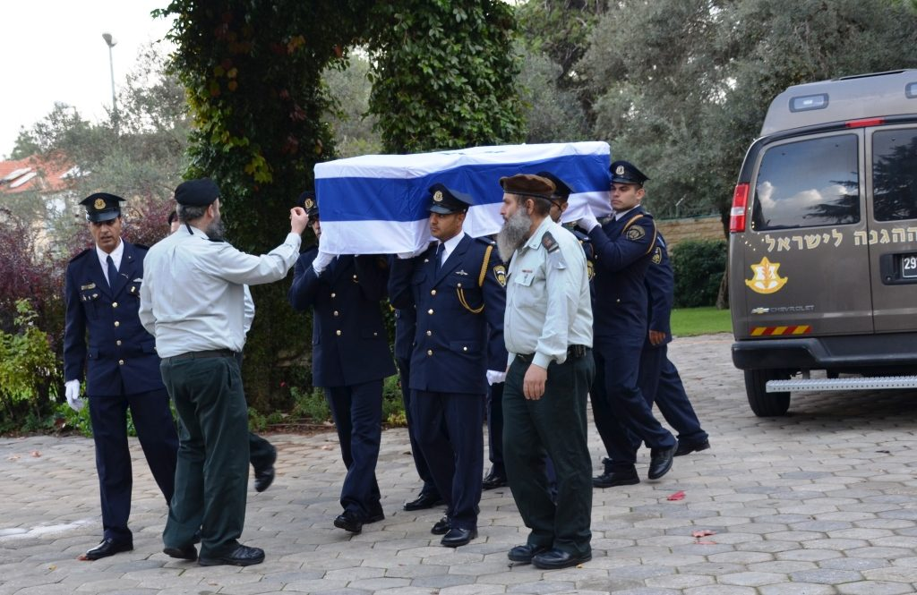 Military escort for Yitzhak Navon arrival at Beit Hanasi